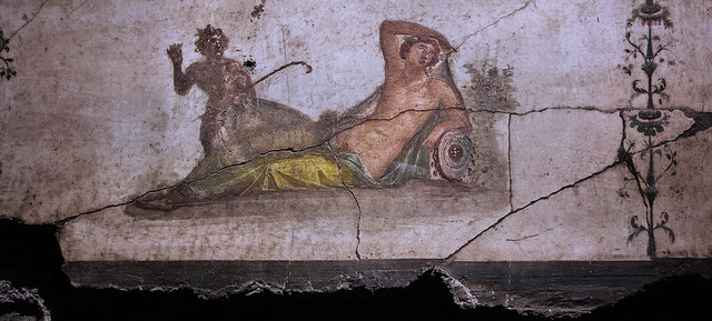 God of the wild discovers Hermaphroditus, Fresco, c. 67 AD