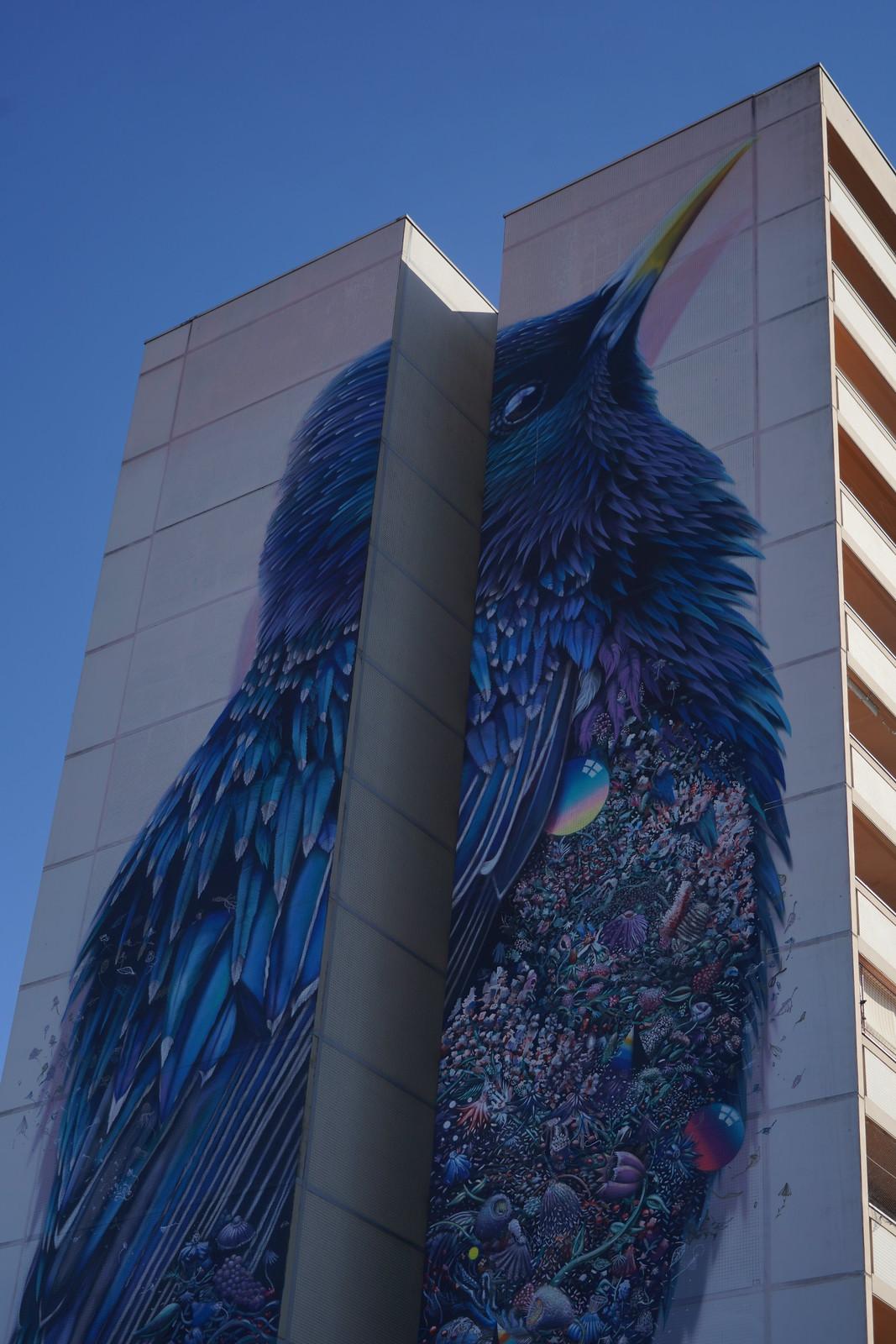 """""""The Starling"""" Mural von Collin van der Sluijs und Super A"""