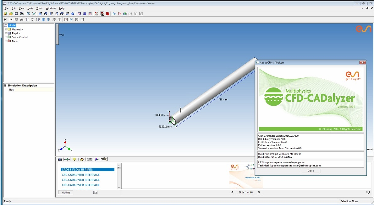 Working with ESI CFD Advanced 2014.0 full license