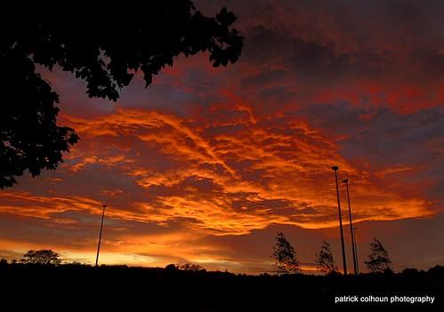 fierysunset night nature buncrana donegal ireland cockhillpark inishowen sunset sky