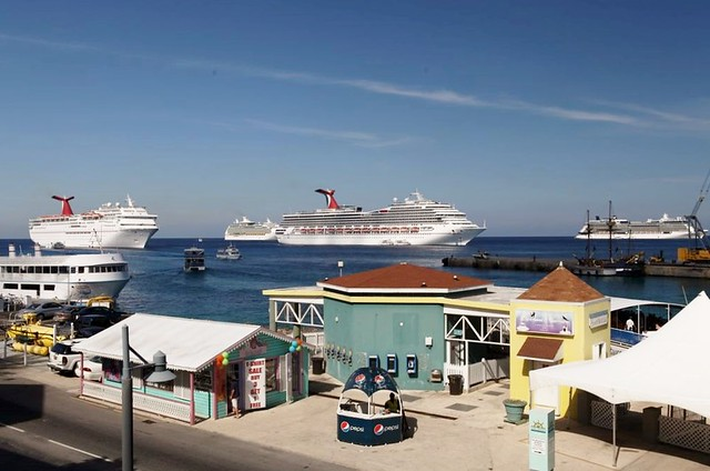 Four Cruise Ships off Grand Cayman
