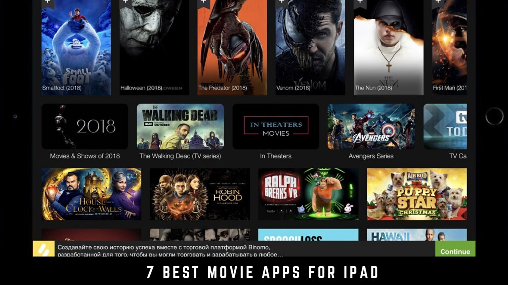 7 Best movie apps for iPad