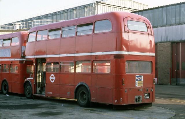 RMA22 (NMY 645E) ex-British Airways Routemaster at Aldenham Works