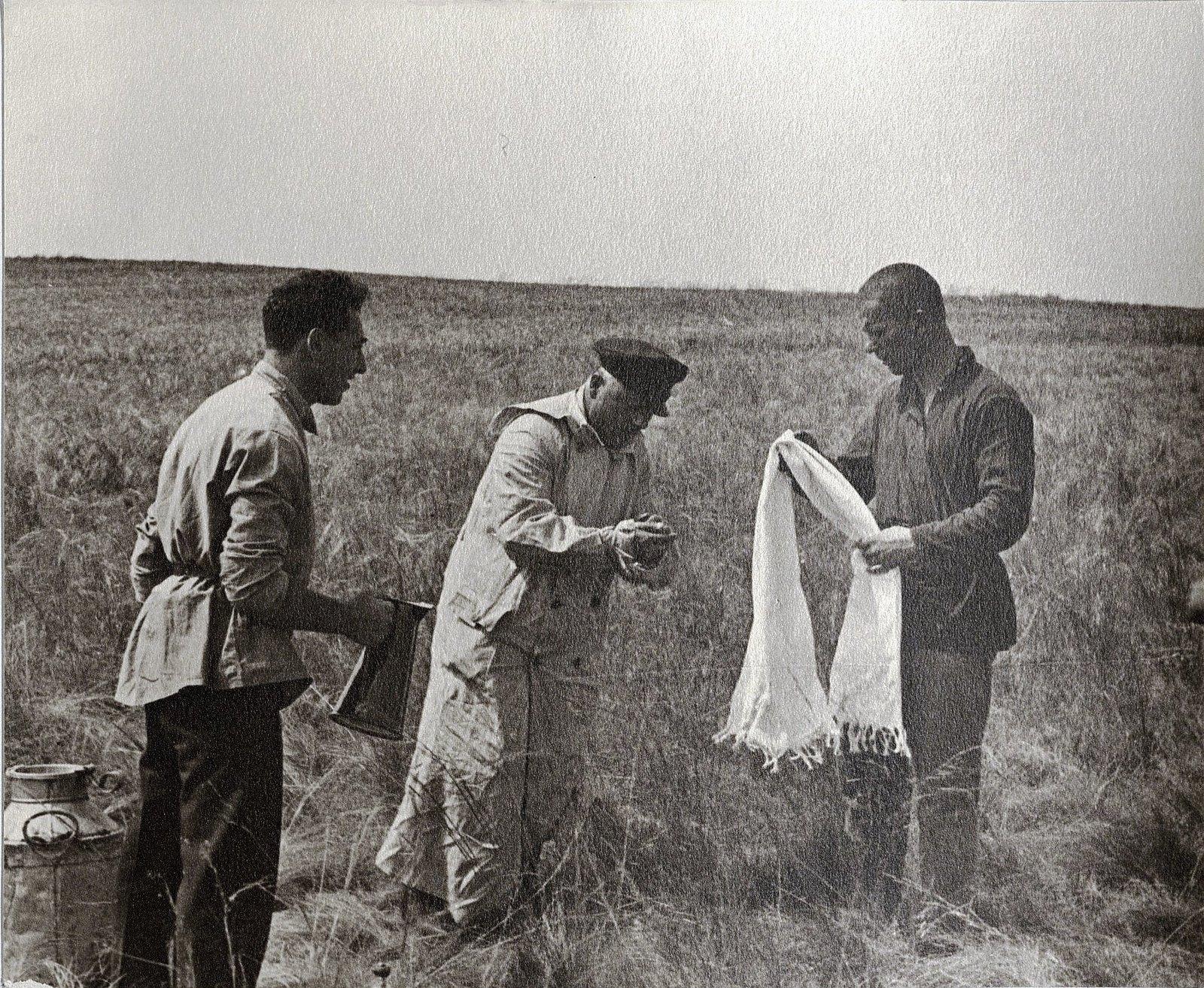 50. К.Е. Ворошилов с сотрудниками охраны. Сальские степи. Август 1933