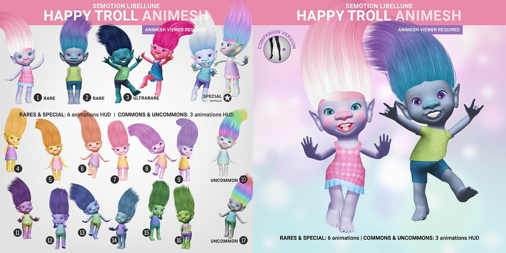 SEmotion Libellune Happy Trolls Animesh