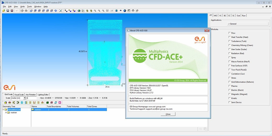 Working with ESI CFD Advanced 2014.0 full crack