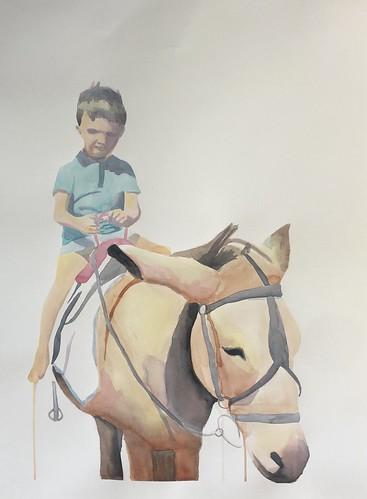 Donkey - 014 | £62 inc p&p UK | 2020 | 56x76cm | Fabriano Artistico HP Paper