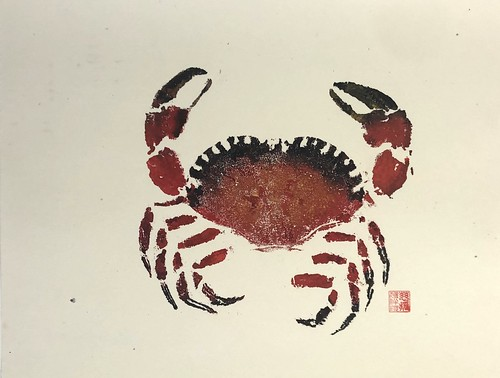 Crab 2 - 0016 | £62 inc p&p UK | 2020 | 46x35.7cm | Chinese Paper on Board