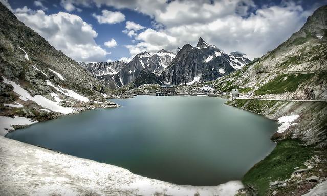 The great St Bernard  Lake - France