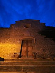 Església del Roser a la hora blava.