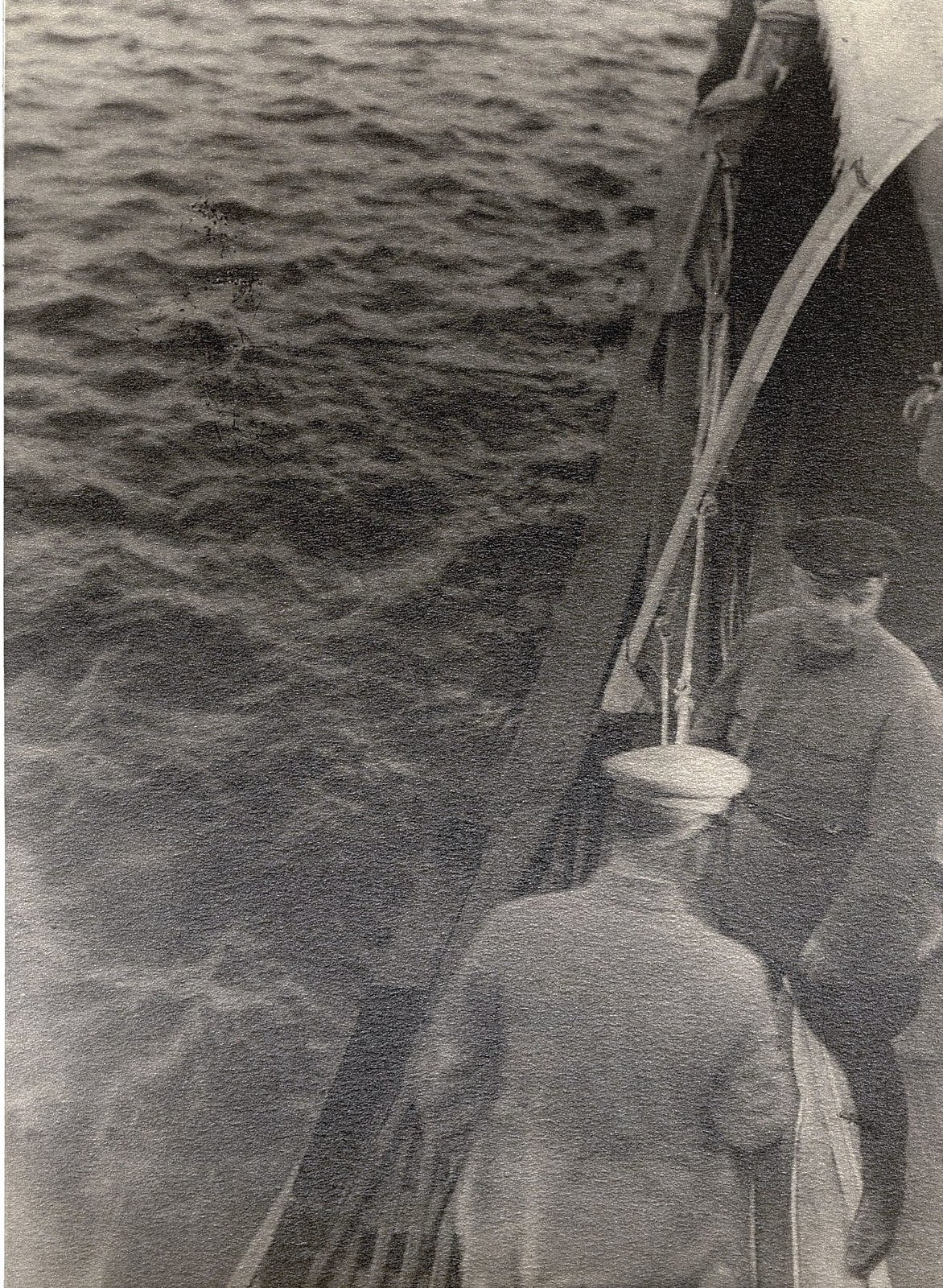 48.  И.В. Сталин, К.Е. Ворошилов на теплоходе Клара Цеткин. На корме. Август 1933
