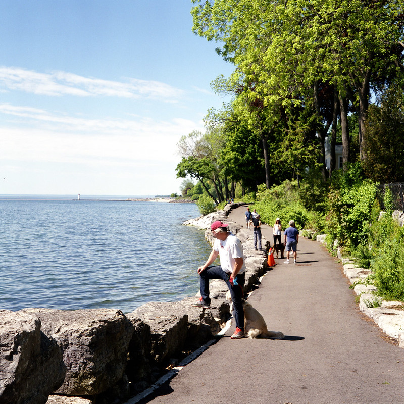Busy on the Waterfront Trail in Dingle Park