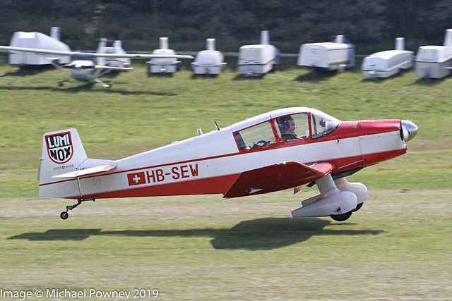 HB-SEW - 1961 CEA built Jodel Jodel DR.1050 Ambassadeur, departing from Hahnweide during OTT19