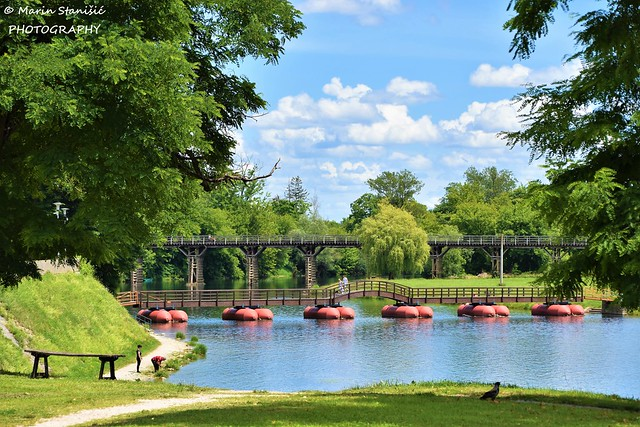 Karlovac, Croatia - Sunny springtime day on river Korana.....