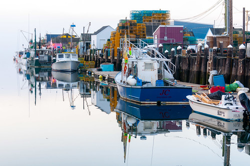 Boats at Widgery Wharf in the Morning, Landscape