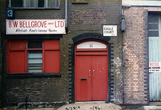 B W Bellgrove, Meat, Eagle Court, Farringdon, 1986 TQ3181-010