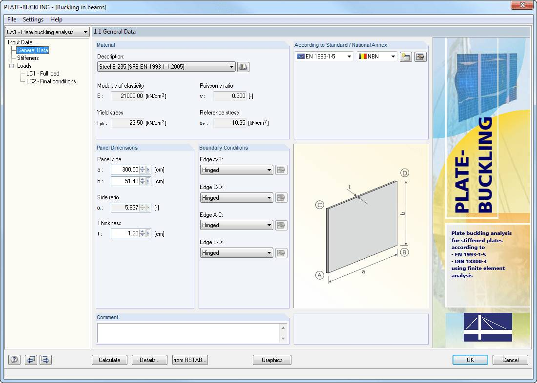 Working with Dlubal PLATE ‑ BUCKLING 8.19.01 full license