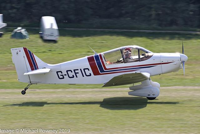 G-CFIC - 1963 Centre Est built Jodel DR1051-M1 Sicile Record, arriving at Hahnweide during OTT19