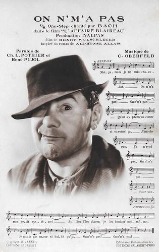 Bach in L'affaire Blaireau (1932)