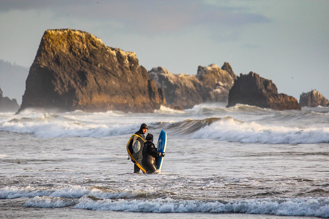 Indian Beach Surfers, Oregon Coast