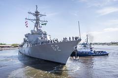 USS Fitzgerald (DDG 62) prepares to depart Pascagoula, June 13. (U.S. Navy photo courtesy of Huntington Ingalls Industries)