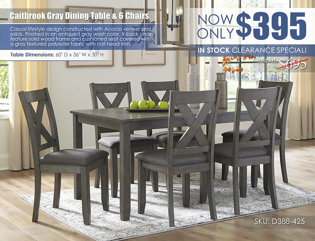 Caitbrook Dining Table & 6 Chairs_D388-425