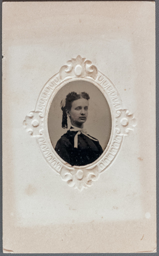 Tintype portrait of a woman