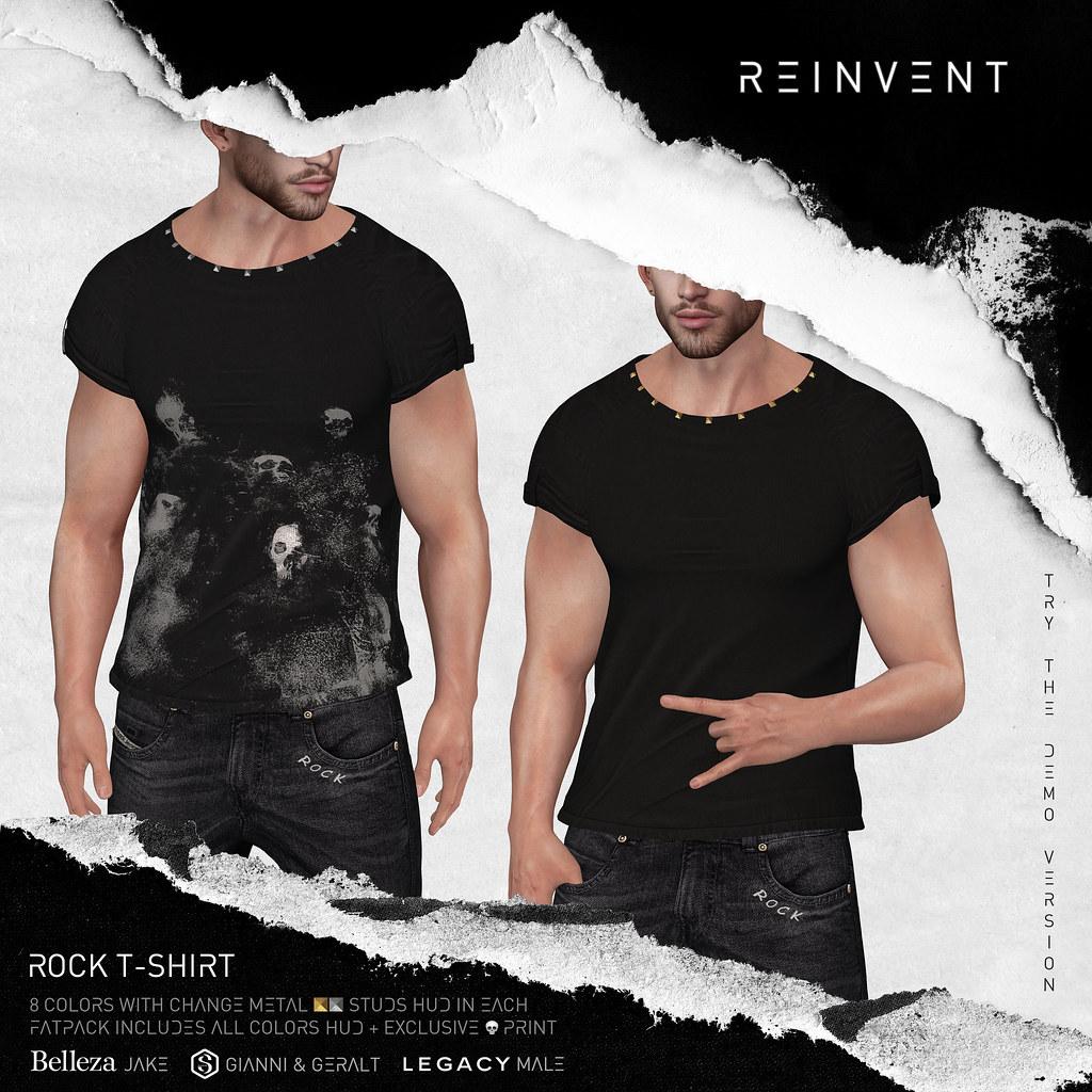 RΞINVΞNT – Rock 💀 t-shirt @ equal10