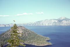 Wizard Island and Devil's Backbone (dike) Crater Lake OR 073162.jpg