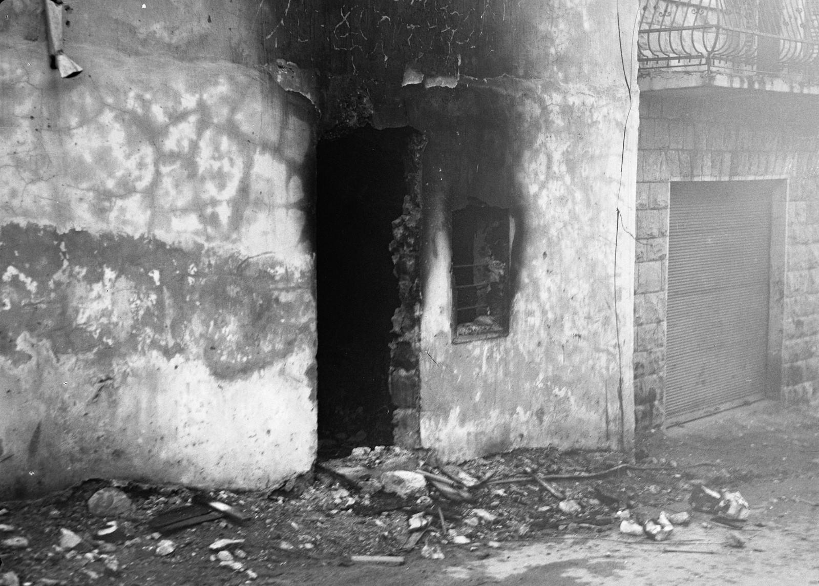 Террористический акт в еврейском квартале