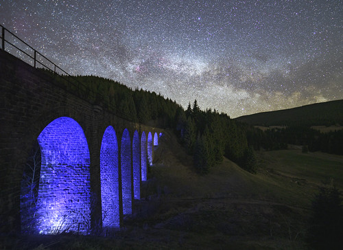 Milky way and viaduct