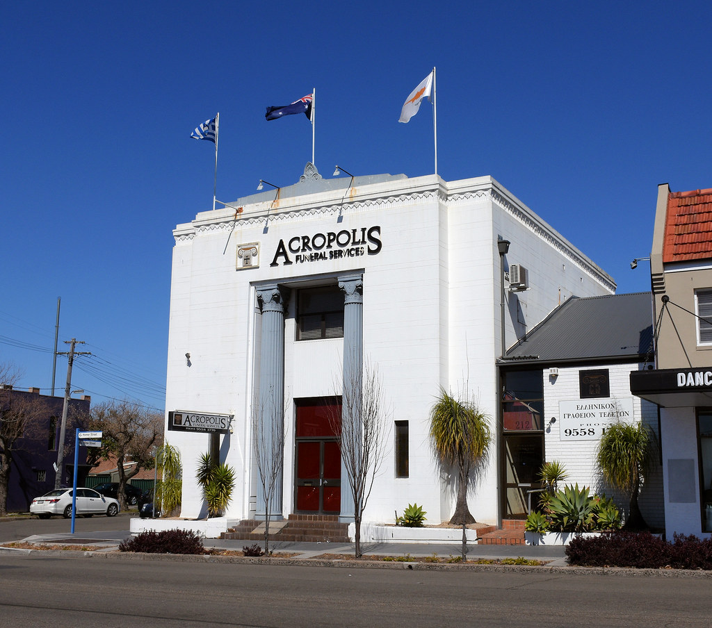 Acropolis Funeral Services, Former Commonwealth Bank, Earlwood, Sydney, NSW.