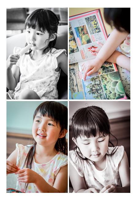 夏の家族写真 ご自宅へ出張撮影 自然な姿の新1年生の女の子