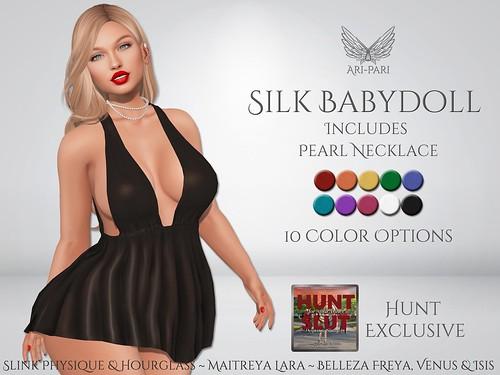 [Ari-Pari] Silk Babydoll