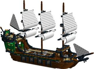 Creator pirate ship 31109 MOD (Kintyre) - bow