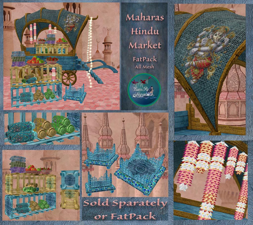Maharas Hindu Market Cart & Decor for TLALLI