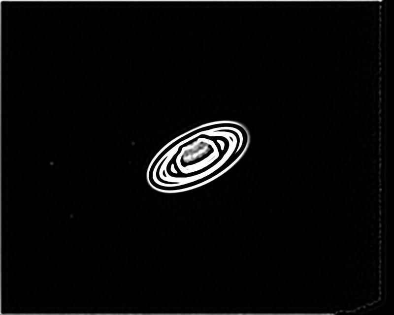 土星の衛星 (2018/4/29 03:09) (撮影:けむけむ、画像処理:なんば)
