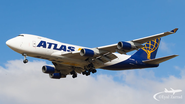 TLV - Atlas Air Boeing 747-400 Freighter N486MC