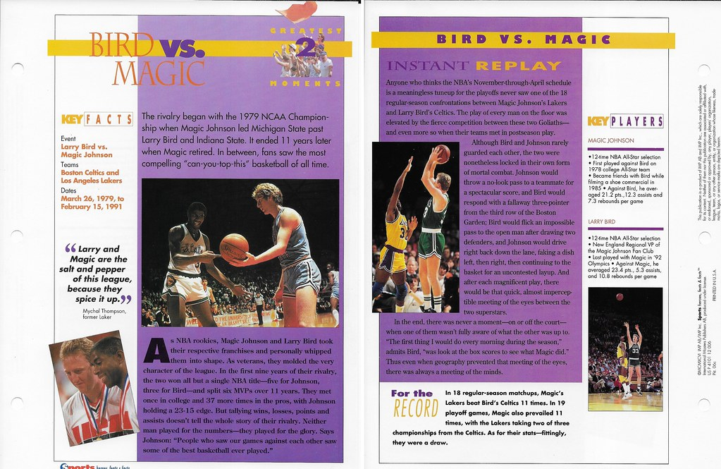 1996 Larry Bird - Maigc Greatest Moments 06c
