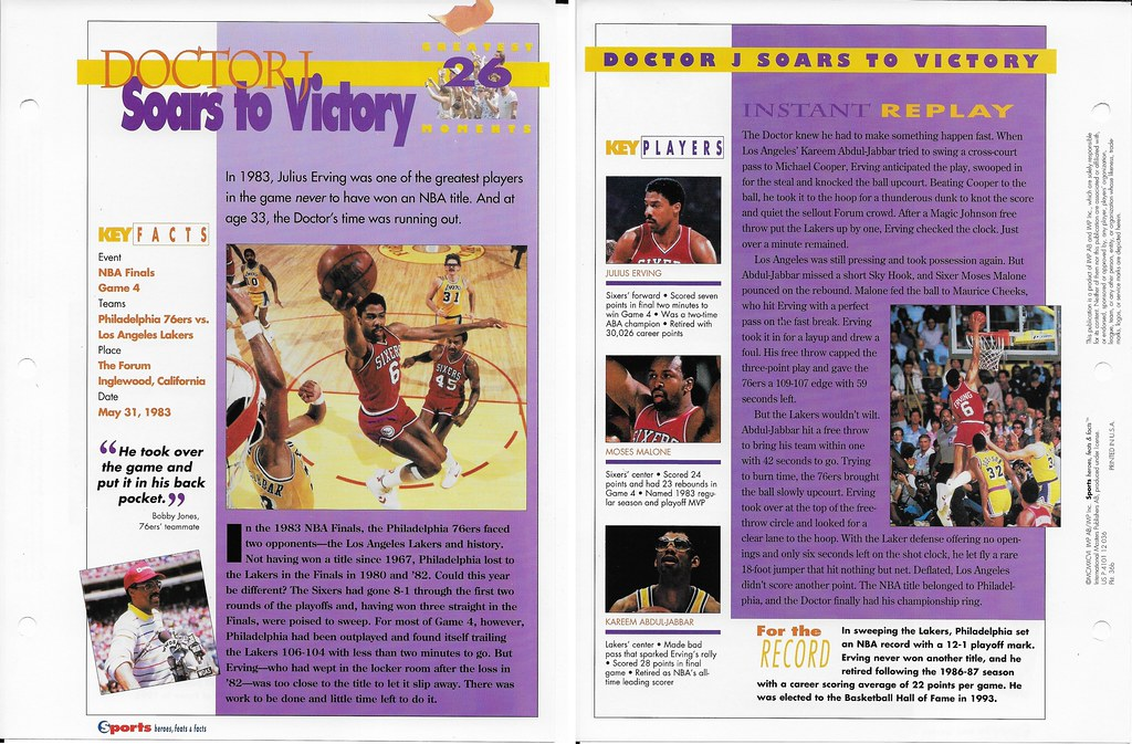 1996 Julius Erving Greatest Moments 36b