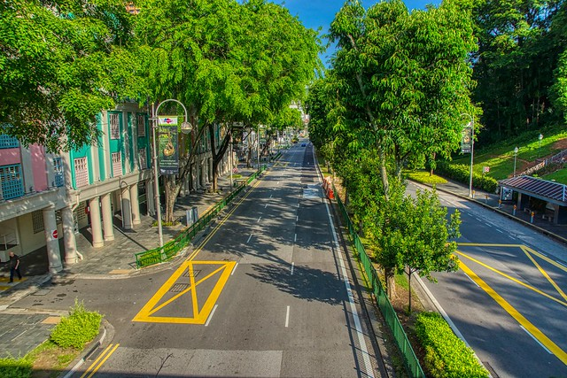 Morning view of River Valley Road in Singapore