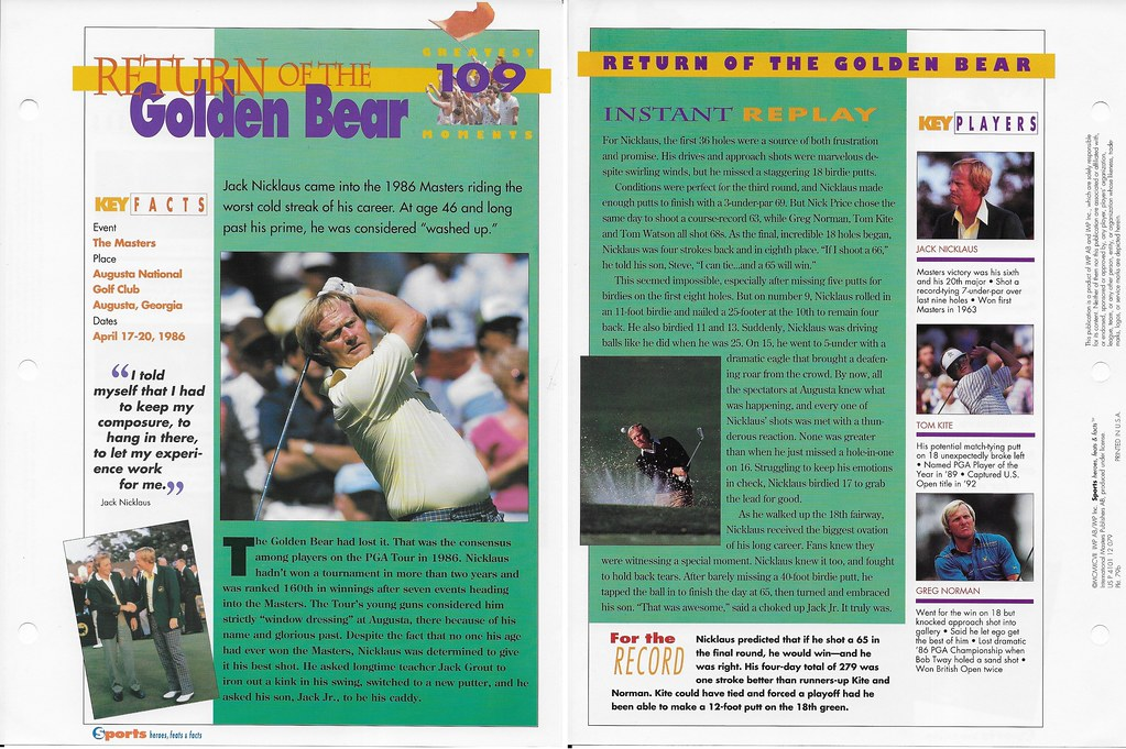1997 Jack Nicklaus Greatest Moments 79b