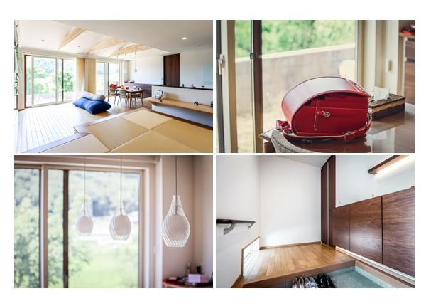 真新しい新築の住宅 ランドセル 玄関 リビング 岐阜県岐阜市