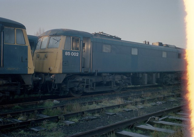 Withdrawn BR Blue Class 85/0, 85002