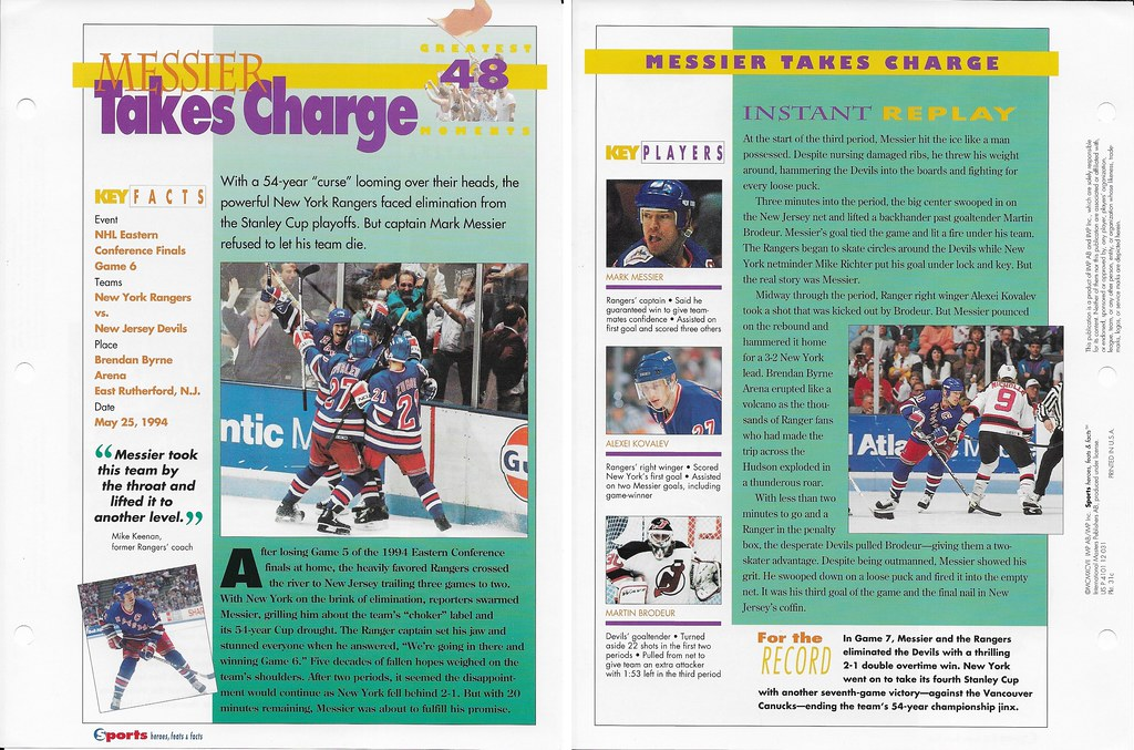 1997 Mark Messier Greatest Moments 31c