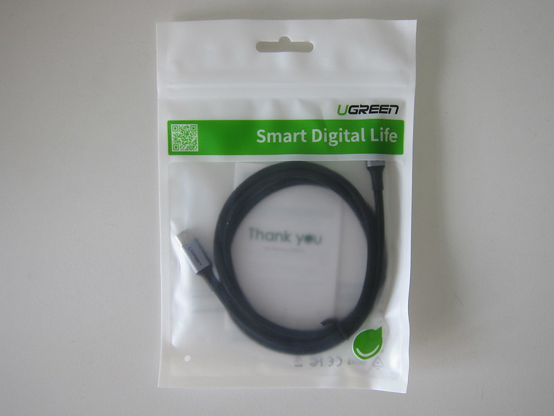 Ugreen Braided USB-C to USB-C Cable (100W) - Packaging Front