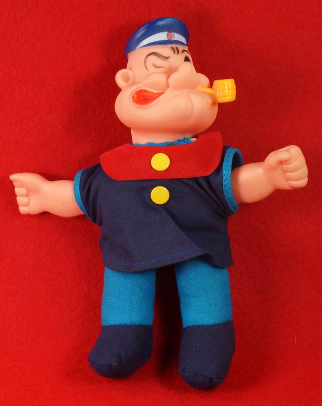 RD22249 Vintage Popeye Doll 1977 UD Co. Hong Kong 1977 7 inch DSC07817