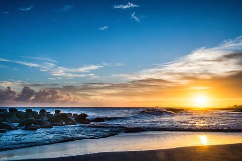 夕陽 海天一色 sunset