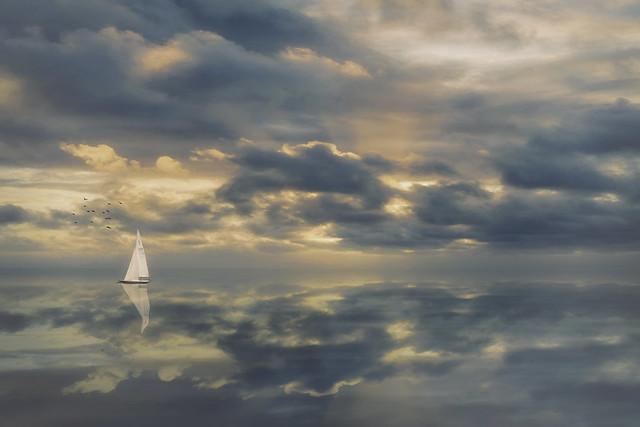 Where the sea and the sky meet