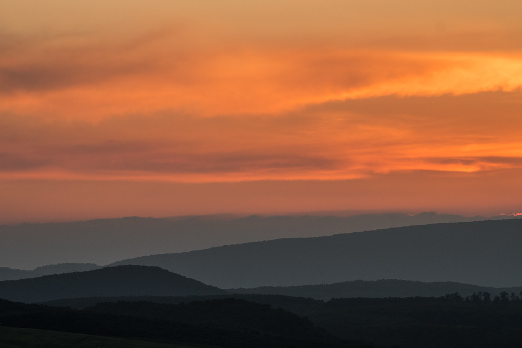 Gerecse Mountains sunset